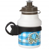 "Lasten juomapullo ""ELEPHANT"", 350ml., sis Clip-on teline"